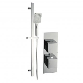 Signature Square Dual Concealed Mixer Shower with Shower Kit - Chrome