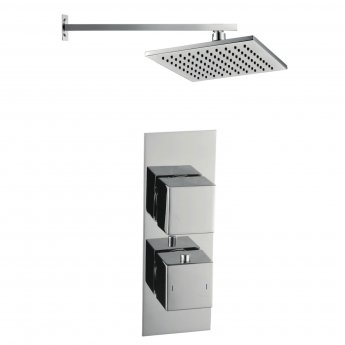 Signature Square Twin Concealed Mixer Shower with Fixed Head - Chrome