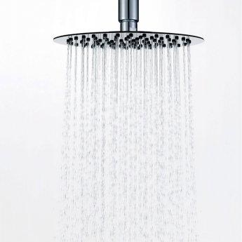 Signature Ultraslim Round Shower Head 200mm Diameter - Stainless Steel