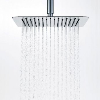Signature Ultraslim Square Shower Head 250mm x 250mm - Stainless Steel