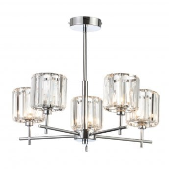 Signature 5 Light Ceiling Pendant - Chrome