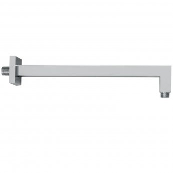 Signature Wall Mounted Square Shower Arm 300mm Length - Chrome