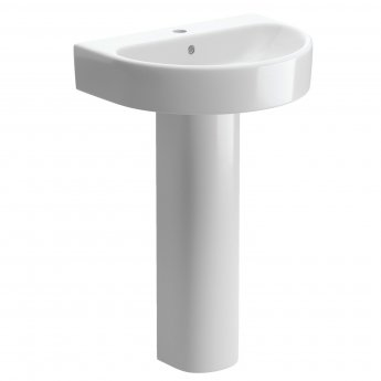 Signature Nazca Basin and Full Pedestal 555mm Wide - 1 Tap Hole