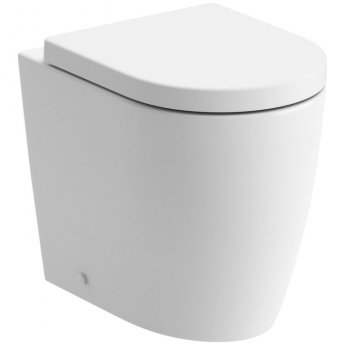 Signature Nazca Back to Wall Rimless Toilet 355mm Wide - Soft Close Seat