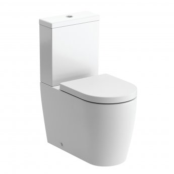Signature Nazca Close Coupled Toilet with Push Button Cistern - Soft Close Seat