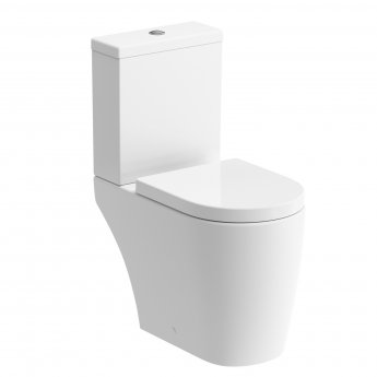 Signature Nazca Close Coupled Open Back Rimless Toilet with Cistern - Soft Close Seat