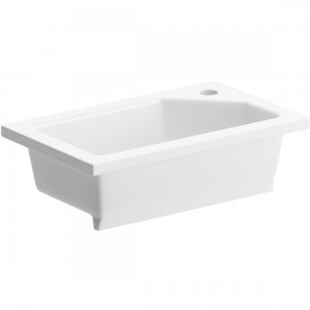 Signature New Rectangular Inset Countertop Basin 430mm Wide - 1 Tap Hole