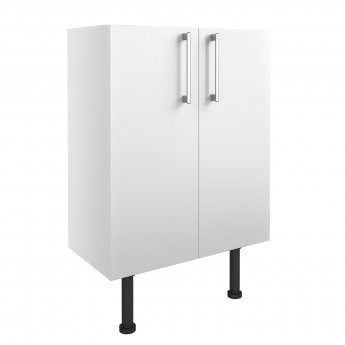 Signature Oslo Floor Standing 2-Door Base Unit 600mm Wide - White Gloss
