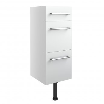 Signature Oslo Floor Standing 3-Drawer Storage Unit 300mm Wide - White Gloss