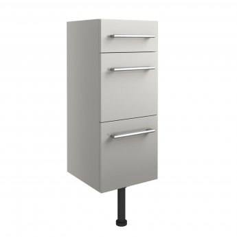 Signature Oslo Floor Standing 3-Drawer Storage Unit 300mm Wide - Light Grey Gloss