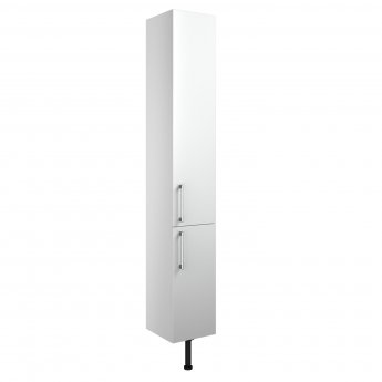Signature Oslo Floor Standing 2-Door Tall Unit 300mm Wide - White Gloss