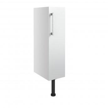 Signature Oslo Floor Standing 1-Door Toilet Roll Unit 200mm Wide - White Gloss