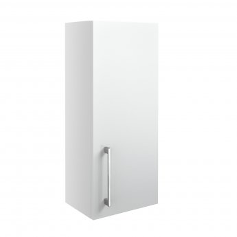 Signature Oslo Wall Hung 1-Door Storage Unit 300mm Wide - White Gloss