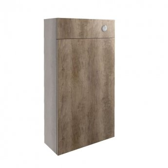 Signature Oslo Slim Back to Wall WC Toilet Unit 500mm Wide - Nebraska Oak