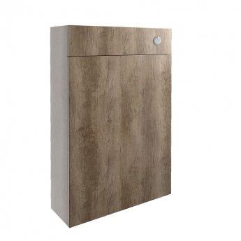 Signature Oslo Slim Back to Wall WC Toilet Unit 600mm Wide - Nebraska Oak