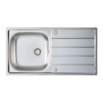 Signature Prima 1.0 Bowl Kitchen Sink with Waste Kit 965 L x 500 W - Stainless Steel