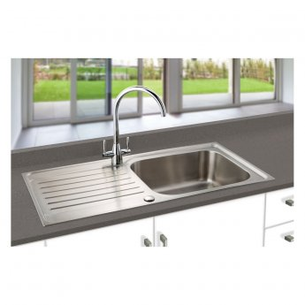 Signature Prima Deep 1.0 Bowl Kitchen Sink with Waste Kit 1000 L x 500 W - Stainless Steel