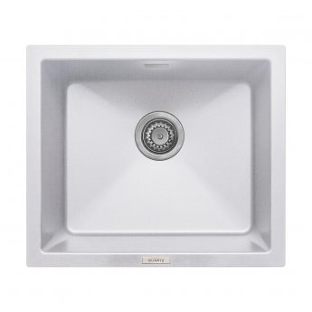 Signature Prima Granite Composite 1.0 Bowl Undermount Kitchen Sink with Waste Kit 533 L x 457 W - White
