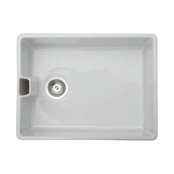 Signature Prima 1.0 Bowl Belfast Kitchen Sink with Waste Kit 595 L x 455 W - White