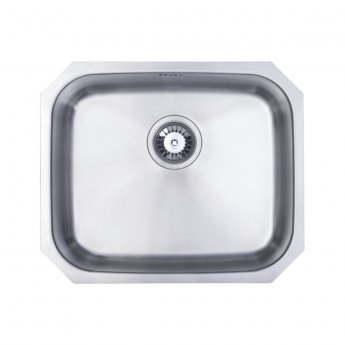 Signature Prima 1.0 Bowl Undermount Kitchen Sink with Waste Kit 530 L x 450 W - Stainless Steel