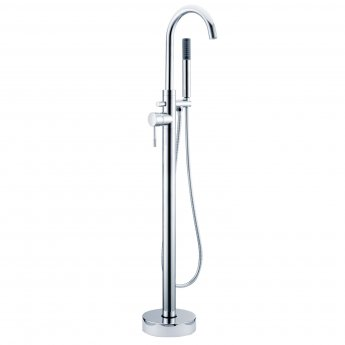 Signature Primo Freestanding Bath Shower Mixer Tap with Shower Kit - Chrome