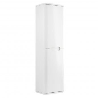 Signature Randers Wall Hung 2-Door Tall Unit 350mm Wide - White Gloss