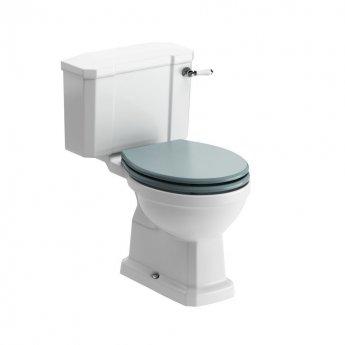 Signature Aphrodite Close Coupled Toilet with Cistern - Sea Green Ash Soft Close Seat