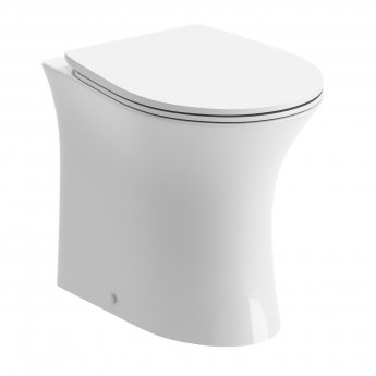 Signature Back to Wall Rimless Toilet 366mm Wide - Soft Close Seat