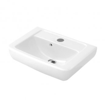 Signature Simple Compact Cloakroom Basin 450mm - White