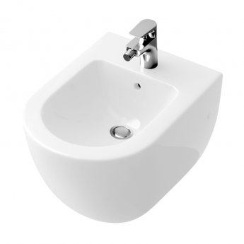 Signature Simple Wall Hung Bidet 375mm Wide 1 Tap Hole