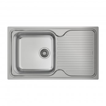 Signature Teka Classic 1.0 Bowl Kitchen Sink with Waste Kit 860 L x 500 W - Stainless Steel