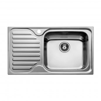 Signature Teka 1.0 Bowl Kitchen Sink with Waste Kit 860 L x 500 W - Stainless Steel