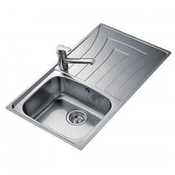 Signature Teka Universo 1.0 Bowl Kitchen Sink with Waste Kit 860 L x 500 W - Stainless Steel