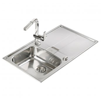 Signature Teka Stena 1.0 Bowl Kitchen Sink with Waste Kit 860 L x 500 W - Stainless Steel