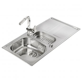Signature Teka Stena 1.5 Bowl Kitchen Sink with Waste Kit 980 L x 500 W - Stainless Steel