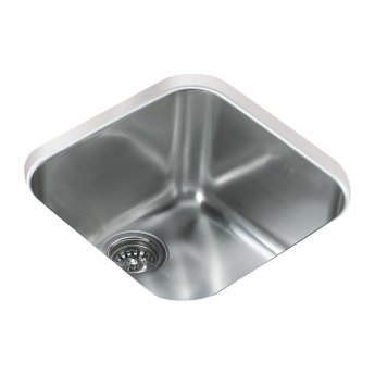 Signature Teka 1.0 Bowl Undermount Kitchen Sink with Waste Kit 424 L x 424 W - Stainless Steel
