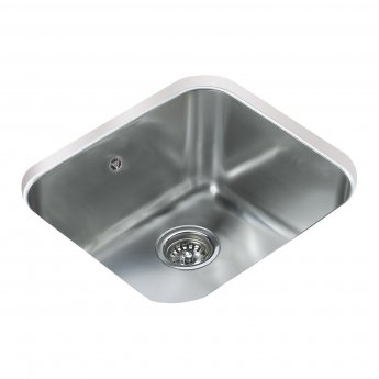 Signature Teka 1.0 Bowl Undermount Kitchen Sink with Waste Kit 470 L x 420 W - Stainless Steel