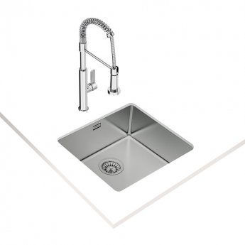 Signature Teka Linea 1.0 Bowl Undermount Kitchen Sink with Waste Kit 490 L x 440 W - Stainless Steel