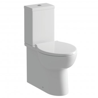 Signature Tikal Close Coupled Toilet with Push Button Cistern - Soft Close Seat