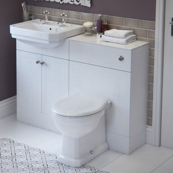 Signature Traditional Semi-Recessed Basin 550mm Wide - 2 Tap Hole