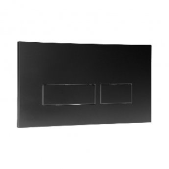 Signature Easi-Plan Trend 2 Dual Flush Plate - Black