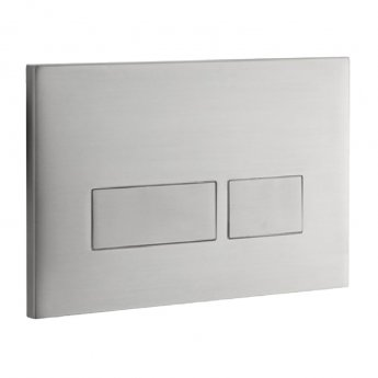 Signature Easi-Plan Trend 2S Dual Flush Plate - Brushed Stainless