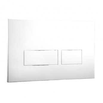 Signature Easi-Plan Trend 2 Press Flush Plate - White