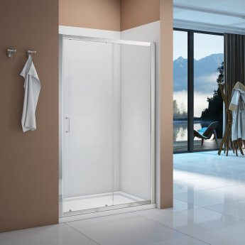 Signature Vibrance Sliding Shower Door 1000mm Wide - 6mm Glass