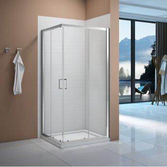 Signature Vibrance Corner Entry Sliding Shower Enclosure 800mm x 800mm - 6mm Glass