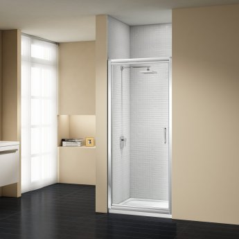 Signature Vibrance Subline Infold Shower Door 800mm Wide - 8mm Glass