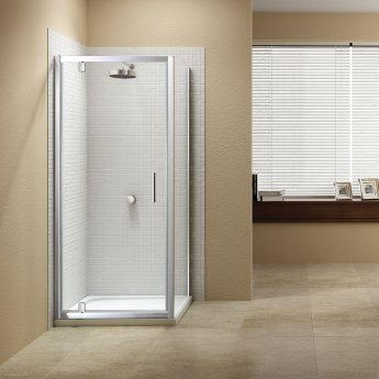 Signature Vibrance Subline Pivot Shower Door 760mm Wide - 8mm Glass