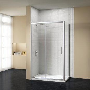 Signature Vibrance Subline Sliding Shower Door 1200mm Wide - 8mm Glass