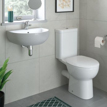 Signature Zeus Close Coupled Toilet with Cistern - Soft Close Seat