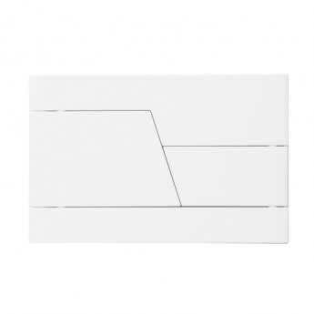 Signature Easi-Plan Zone Dual Flush Plate - White